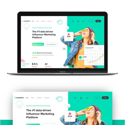 Marketing website design.