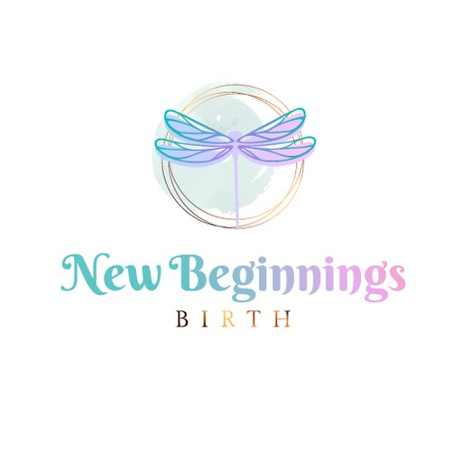 A delicate Logo Concept for I am a birth doula and HypnoBirthing educator