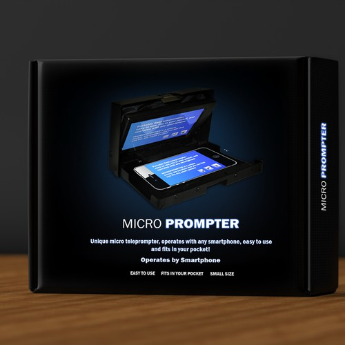 print or packaging design for MicroPrompter