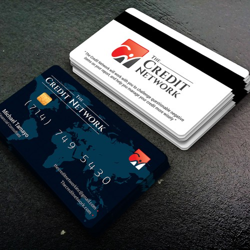create a credit card theme for my business card