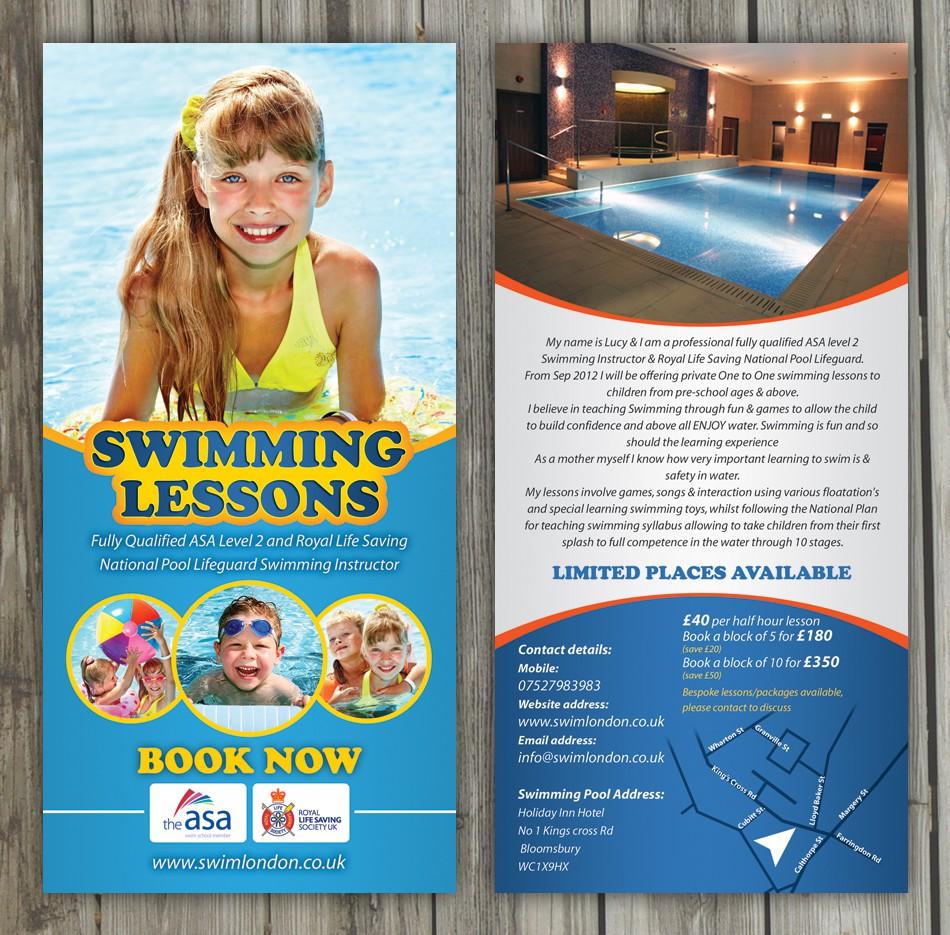 Swim London needs a new postcard or flyer