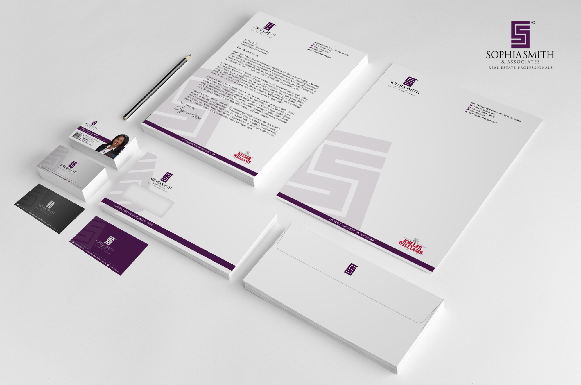 Help Sophia Smith & Associates Real Estate Professionals with a new stationery