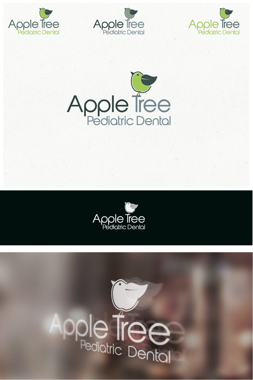 Simple, elegant, and sheek logo for a pediatric dental office that pop.  Picture could incorporate apple, kid..