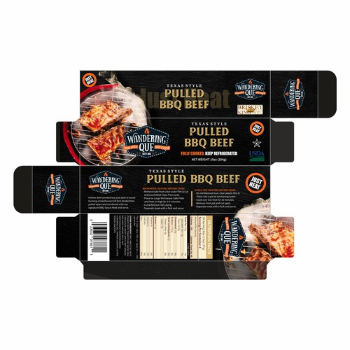 Killer new package design for pulled BBQ beef