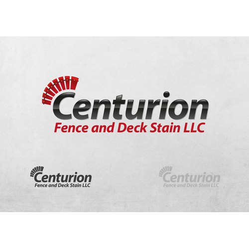 Create the next logo for Centurion Fence and Deck Stain L.L.C.