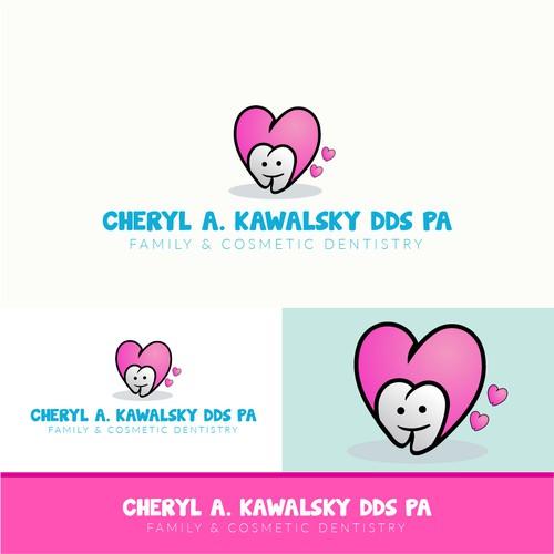 Cute logo for cheryl a.kawalsky dds pa