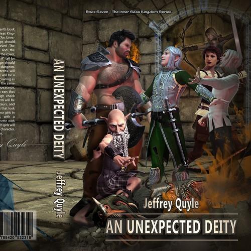 "Ingenairii Press Book Cover for ""An Unexpected Deity"" fantasy novel"