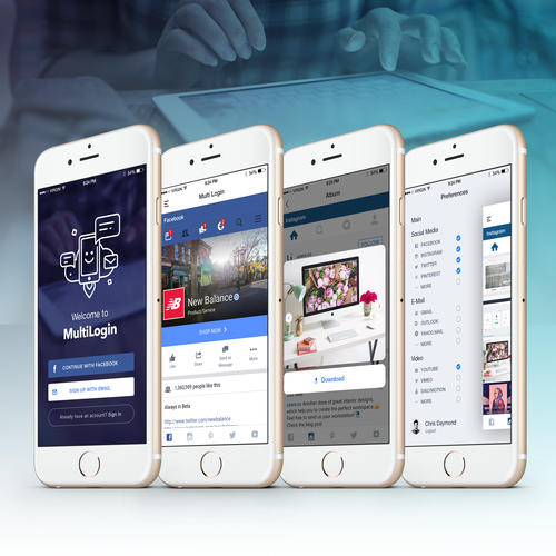 Multi Login App Design