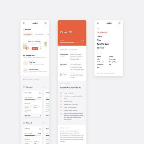 Website App Redesign for Rootine