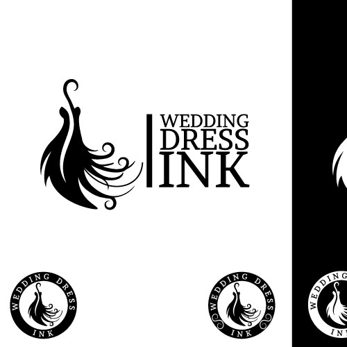 Beautiful logo wanted by Wedding Dress Ink