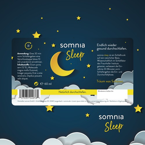 somnia sleep bottle label