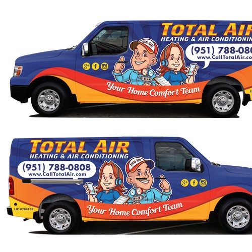 Car Wrap for Total Air Heating and Air Conditioning