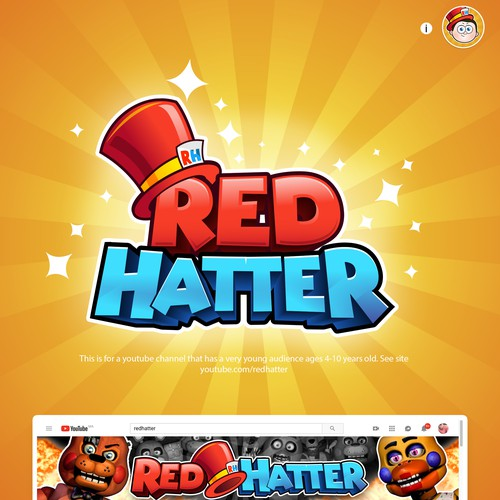 Logo design for RedHatter youtube channel