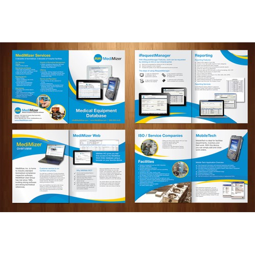 New brochure design wanted for MediMizer, Inc Software