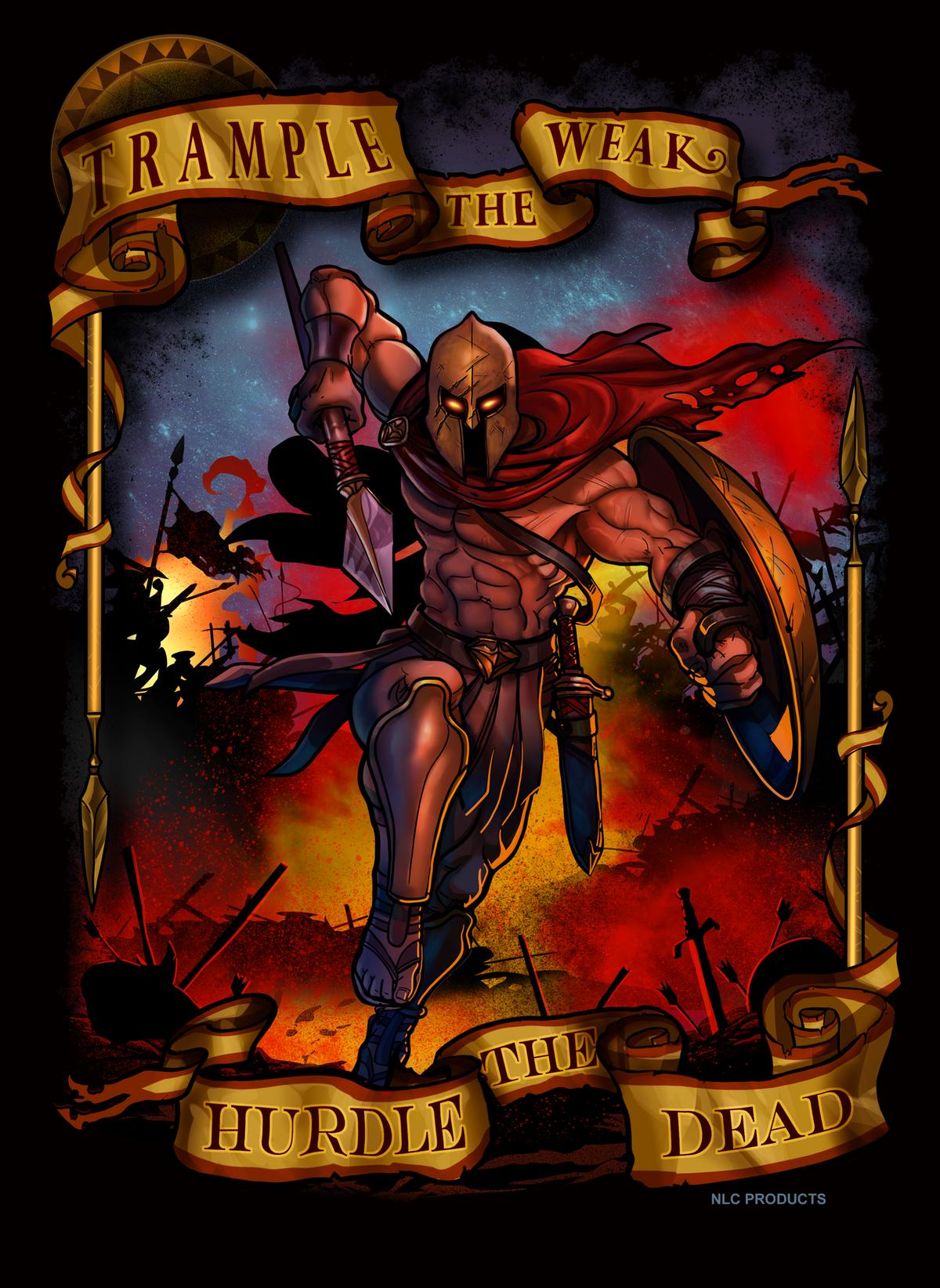 Spartan Warrior Illustration