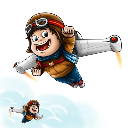 Jetpack kids avion