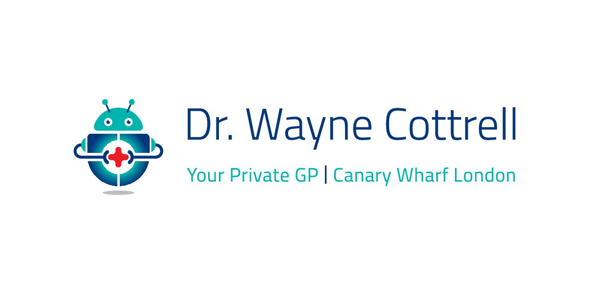 Please design a futuristic logo for a private medical clinic in Canary Wharf