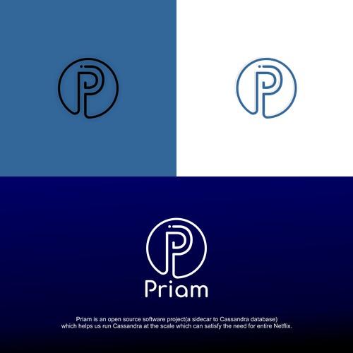 Simple logo for Priam