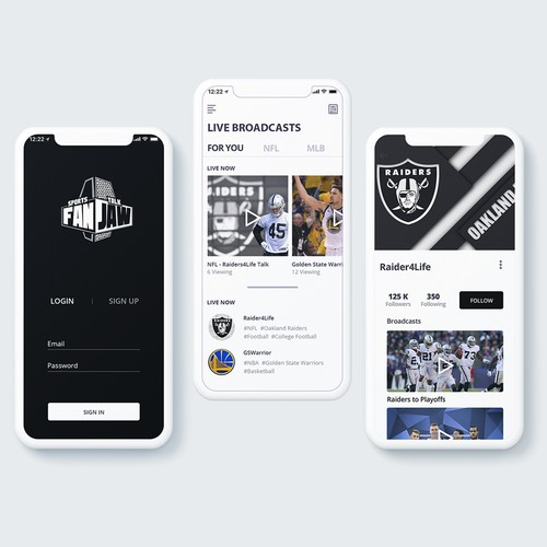Mobile App Design for Sports Casting