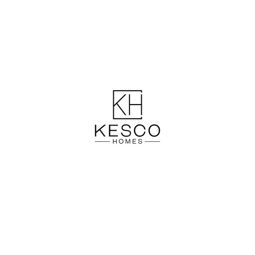 clean modern logo to represent premium vacation home rental business