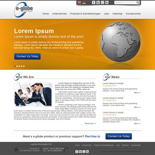 e-globe needs a new website design