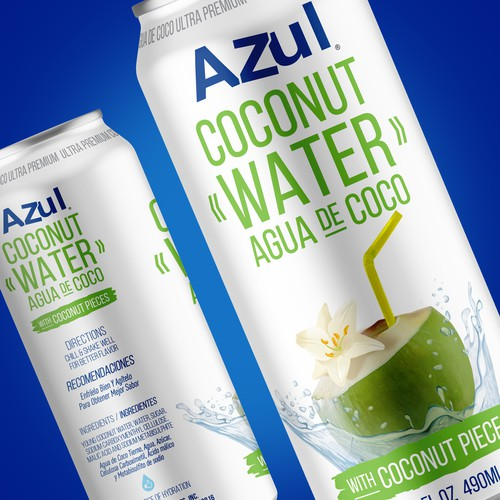 Packaging Design for Azul Coconut Water