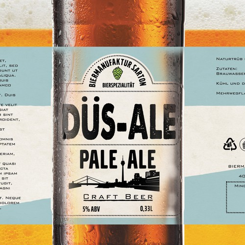 DUS-ALE beer label