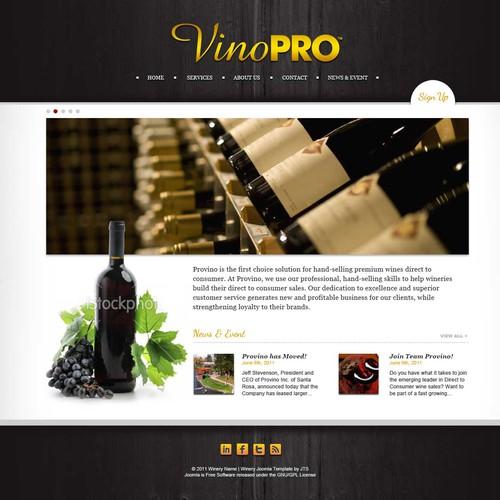 VinoPRO website design