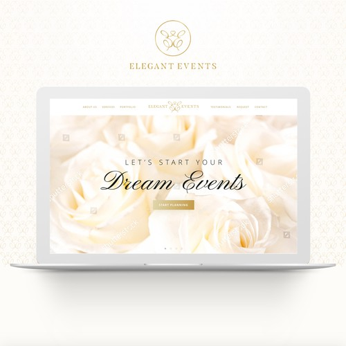 Web UI Design Concept for Elegant Events