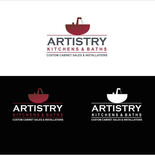 Create the next logo for Artistry Kitchens & Baths