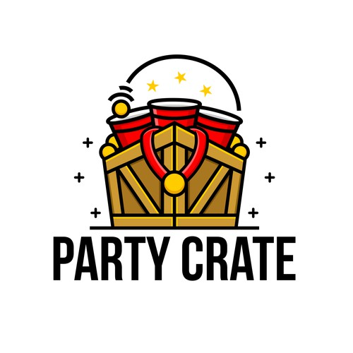 Party Crate Logo Design