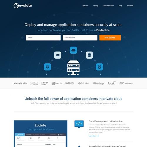 Evolute.io Webdesign