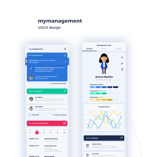 Colorful management app