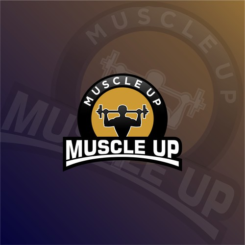 logo concept for muscle up