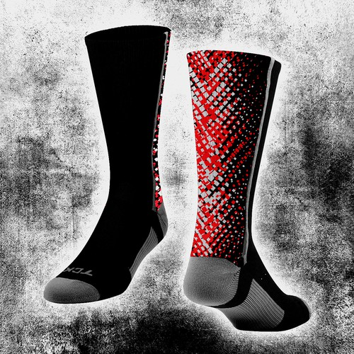 Bold design concept for sock