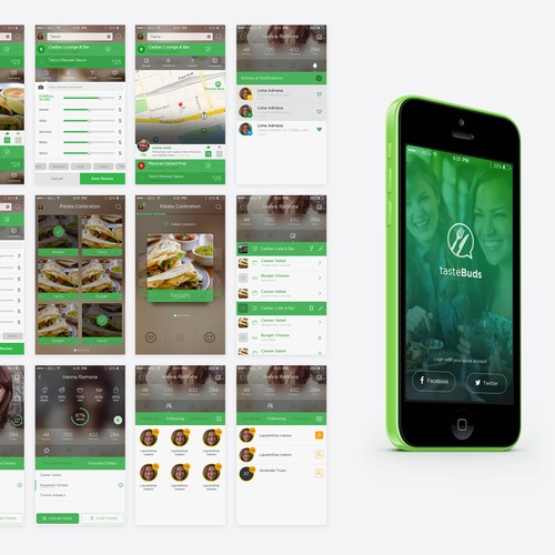 TasteBuds mobile apps