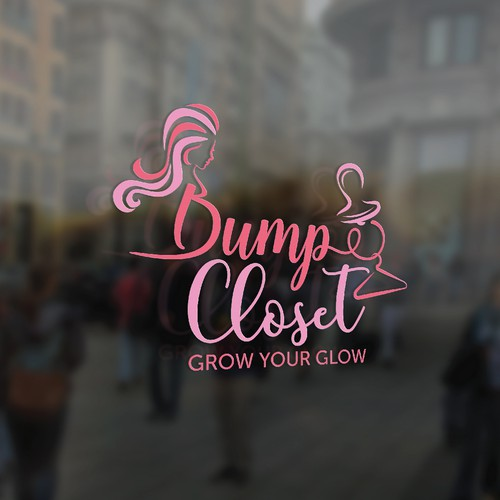Modern logo for maternity clothing store and fashion blog