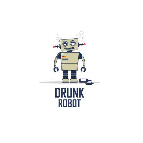 Logo design for the Drunk Robot game