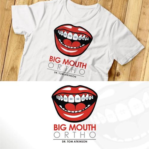iconic logo design for BIG MOUTH ORTHO