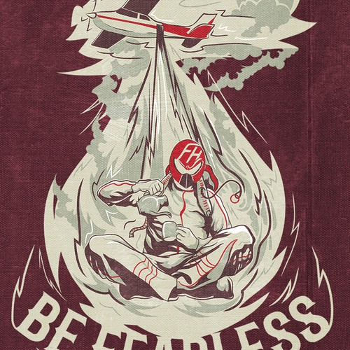 The 1st series of designs for Mr.Fearless t-shirt line!