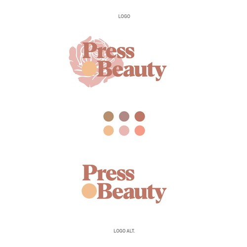 Bold and Feminine Logo Concept for Press Beauty