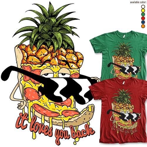 Pineapple Pizza T-shirt design