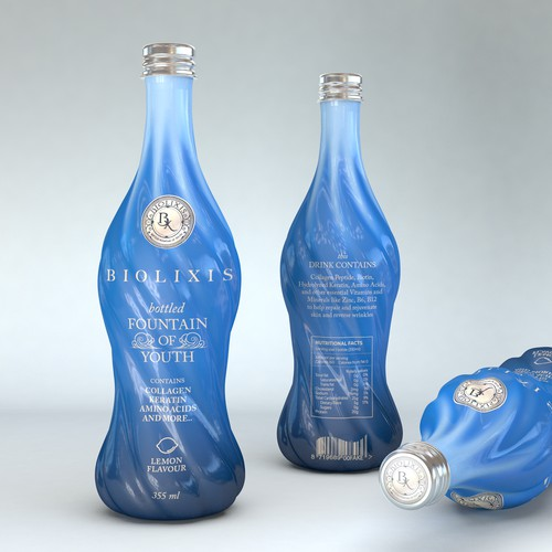 Bottle shape and print design
