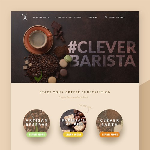 Clever Barista Landing Page design