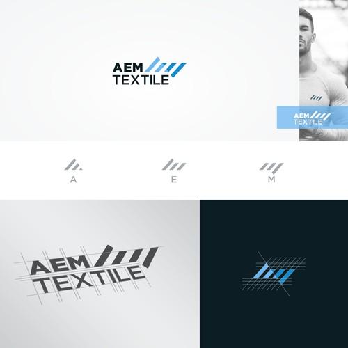 Unique Logo For AEM Textile.