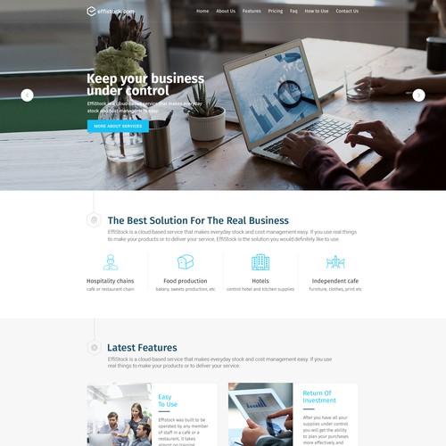 Effistock Website Design