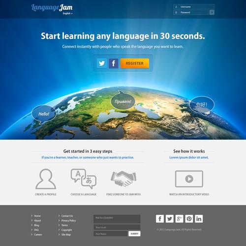 Website design for Language Jam