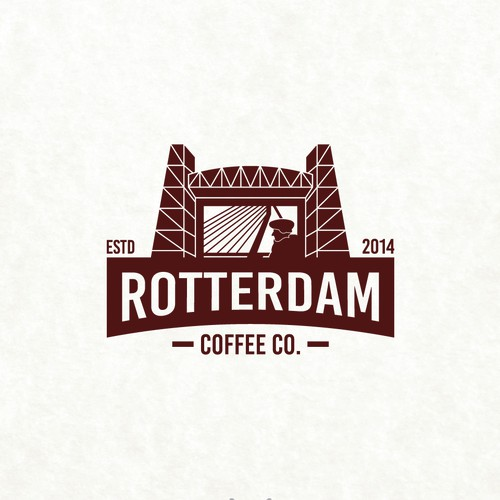 Bold logo for a coffee company