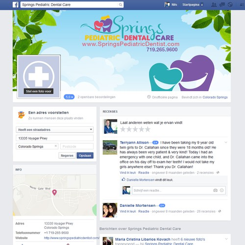 Springs Pediatric Dental Care Facebook Page