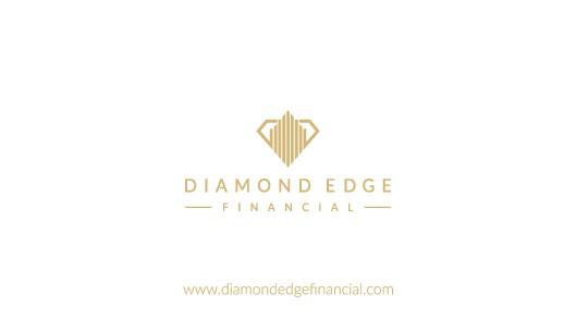 Create an elegant, understated luxury logo for Diamond Edge Financial